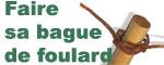 Faire sa bague de foulard scout avec un lacet de cuir - Comment faire une bague ...